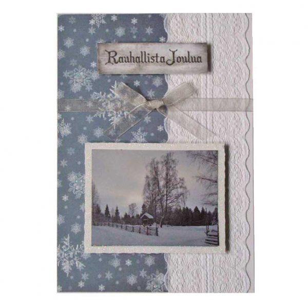 Maisemakortti jouluksi