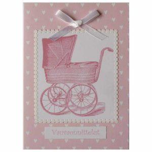 Pinkit vaunut vauvakortti