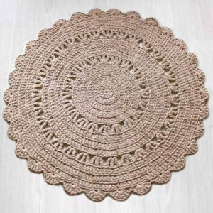 skandityylinen virkattu matto Maymay