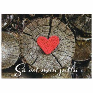 välittävä postikortti rakkaalle tai tärkeälle