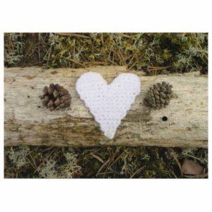 sydän ja kävyt postikortti