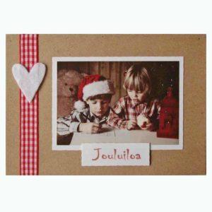 kirje joulupukille käsintehty joulukortti