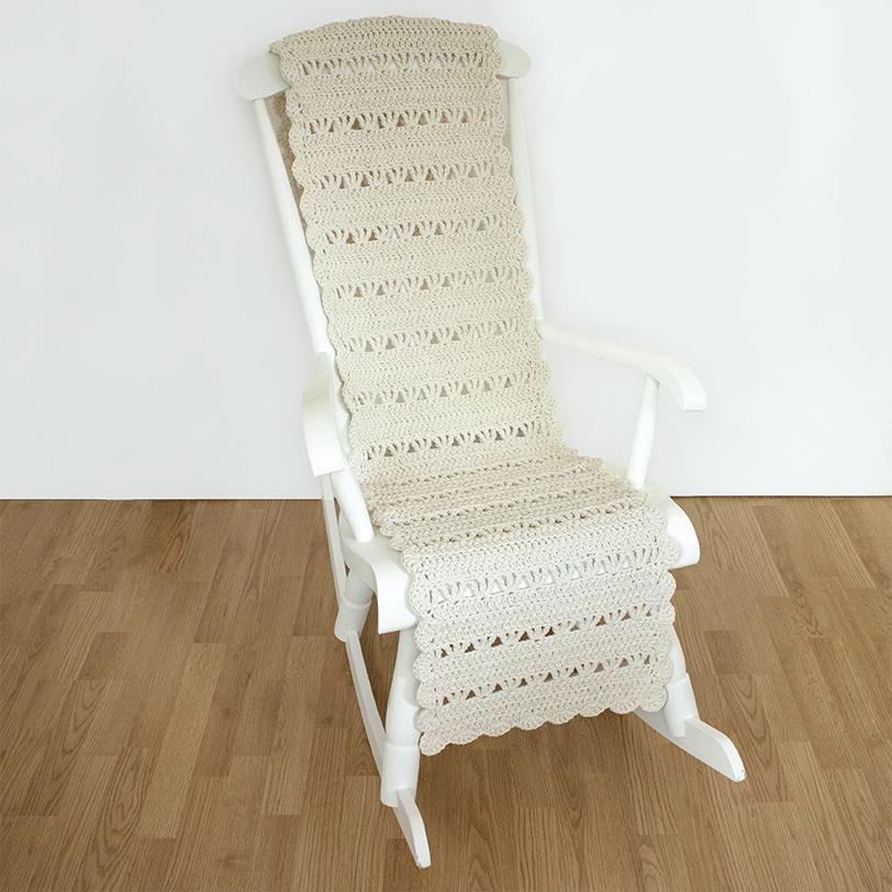 vanilja luonnonvalkoinen keinutuolin matto